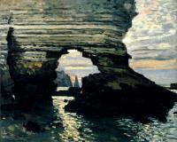 Порт Аваль, Этрета, каменные ворота :: Клод Моне