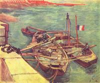 Van Gogh - Лодки с песком у причала