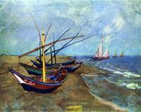 Van Gogh - Рыбачьи лодки на пляже от Сент-Мари