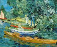 Van Gogh - Берег с лодками в Овер на реке Уазе