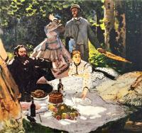 Моне Клод (Claude Monet) - Пикник (Завтрак на траве)