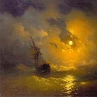 Aivazovsky, Ivan Constantinovich - Буря на море ночью