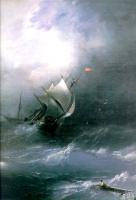 Aivazovsky, Ivan Constantinovich - Буря на ледовитом океане
