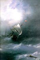 Айвазовский, Иван Константинович (  Aivazovsky, Ivan Constantinovich ) - Буря на ледовитом океане