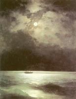 Айвазовский, Иван Константинович (  Aivazovsky, Ivan Constantinovich ) - Черное море ночью