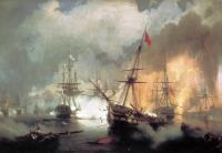 Айвазовский, Иван Константинович (  Aivazovsky, Ivan Constantinovich ) - Морское сражение при Наварине (2 октября 1827)