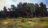 Шишкин Иван ( Ivan Shishkin ) - Дубровый лесок в серый день