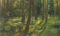 Шишкин Иван ( Ivan Shishkin ) - Папортники в лесу. Сиверская