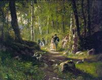 Шишкин Иван ( Ivan Shishkin ) - Прогулка в лесу