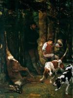 Жанровые сцены - Добыча (псовая охота)