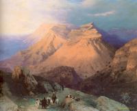 Aivazovsky, Ivan Constantinovich - Аул Гуниб в Дагестане