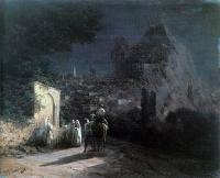 Aivazovsky, Ivan Constantinovich - Лунная ночь. У родника.