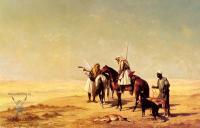 Жанровые сцены - Охота в пустыне