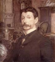 Врубель Михаил Александрович ( Vrubel Michail ) - Автопортрет с жемчужной раковиной