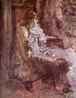 Дама в лиловом. Портрет Надежды Ивановны Забелы-Врубель :: Врубель М.А. ( Mikhail Vrubel)