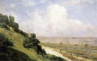 Море в живописи ( морские пейзажи, seascapes ) - Берег в Онфлере. Знойный день