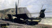 Море в живописи ( морские пейзажи, seascapes ) - Рыбацкая лодка. Этрета. Нормандия
