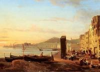 Море в живописи ( морские пейзажи, seascapes ) - Набережная в Неаполе