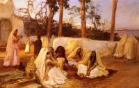Арабский восток - Женщины на кладбище в Алжире