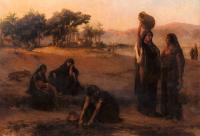 Арабский восток - Женщины набирают воду из Нила