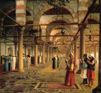 Арабский восток - Молитва в Каирской мечети
