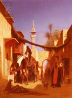 Арабский восток - Улица в Каире ( 2 часть диптиха )