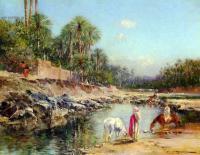 Пейзаж ( пейзажная живопись ) - Путники возле реки