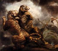Жанровые сцены - Охота на тигров