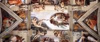 Сотворение адама - Потолочная фреска :: Микеланджело Буаноротти ( Италия )
