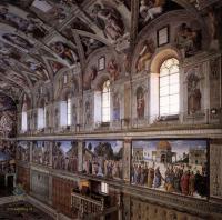 Фрески, монументальная живопись, роспись стен - Интерьер сикстинской капеллы