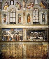 Фрески, монументальная живопись, роспись стен - Часть стены с фресками, включая тайную вечерю