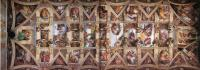 Общий вид потолочной росписи капеллы :: Микеланджело Буаноротти ( Италия )