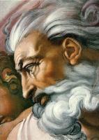 Фрески, монументальная живопись, роспись стен - Сотворение Адама ( Деталь фрески )