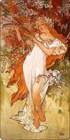картина Весна ::  :: Альфонс Муха ( Чехия ) [ Alphonse Maria Mucha]