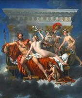 Марс разоружённый Венерой и тремя грациями ::  Жак Луи Давид