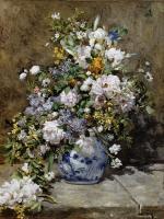 Pierre-Auguste Renoir - Натюрморт с большой цветочной вазой