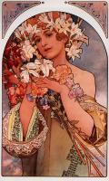 картина Цветок :: Альфонс Муха, плюс пара слов о подарках