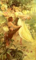 Alfons Maria Mucha - Дух весны