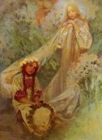 Alfons Maria Mucha - Мария - мадонна лилий