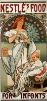 Питание Нестле для малышей :: Альфонс Муха ( Чехия, Чехословакия )