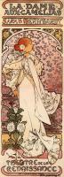 Alfons Maria Mucha - Дама с камелиями