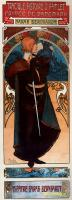 Афиша постановки драмы «Гамлет, принц Датский» в театре Сары Бернар :: Альфонс Муха ( Чехия, Чехословакия )