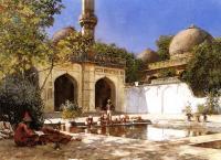 Архитектура - Фигуры во дворе мечети