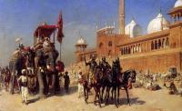 Архитектура - Великий могол и его свита, возвращаются из мечети