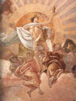 Фрески, монументальная живопись, роспись стен - Апполон и континенты ( деталь фрески )