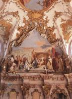Фрески, монументальная живопись, роспись стен - Церемония присяги Герольду как  герцогу Франконии