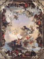Фрески, монументальная живопись, роспись стен - Аллегория планет и континентов