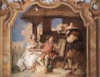 Фрески, монументальная живопись, роспись стен - Анджелика и Медор у пастухов