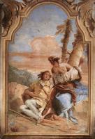 Фрески, монументальная живопись, роспись стен - Анджелика выцарапывает имя Медора на дереве