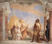 Фрески, монументальная живопись, роспись стен - Эврибат и Талфибий, ведущие Брисеиду к Агамемнону